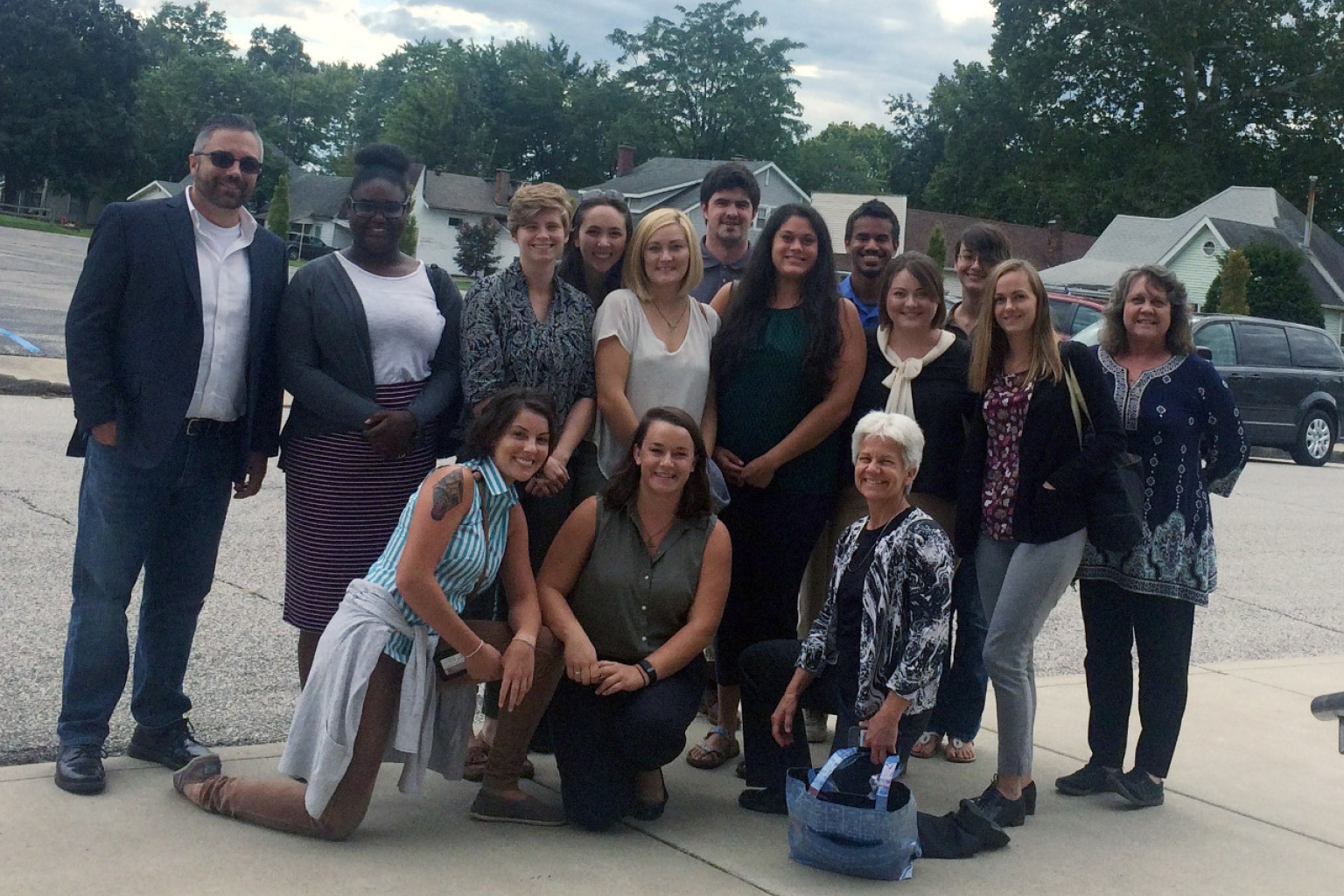 Master of Social Work students volunteering with Lawrence County to address addiction issues.