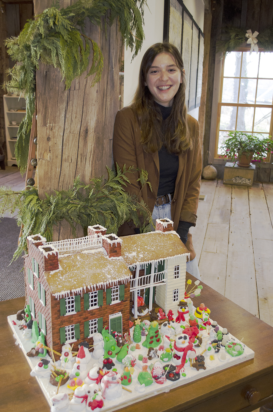 Grad student re-creating the Wylie House in gingerbread